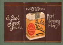 vintage cigarette rolling papers outer cover only Ducks. #090